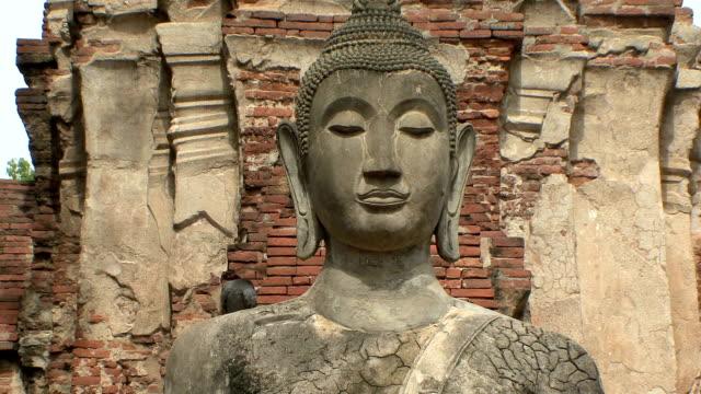 MS TD Buddha statue at Wat Ratcha Buranain, Ayutthaya, Thailand