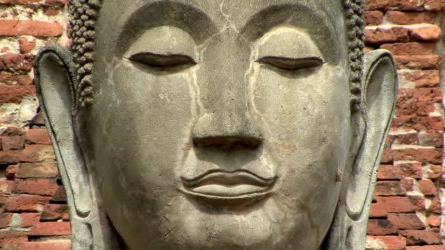 CU ZO MS Buddha statue at Wat Ratcha Buranain, Ayutthaya, Thailand