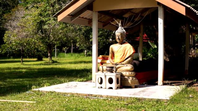 Buddha Statue, Buddhist Temple, Old Town, Ko Lanta, Krabi, Thailand