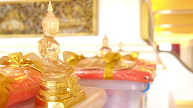 buddha statue close up - theravada stock videos & royalty-free footage