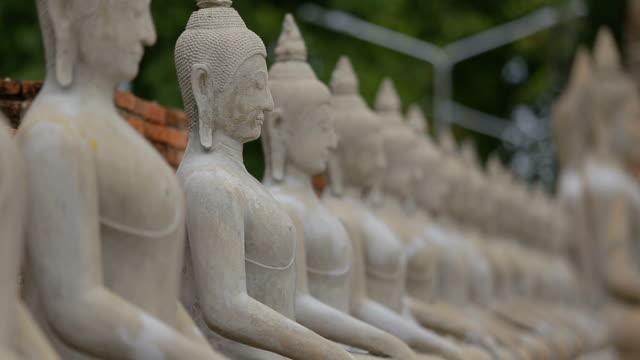 Buddha statue in Ayutthaya Thailand.