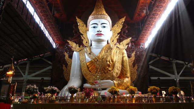 buddha statue in yangon, myanmar - buddha stock videos & royalty-free footage
