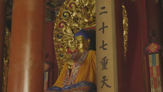 MS Buddha statue in Yonghe Temple. Beijing, China