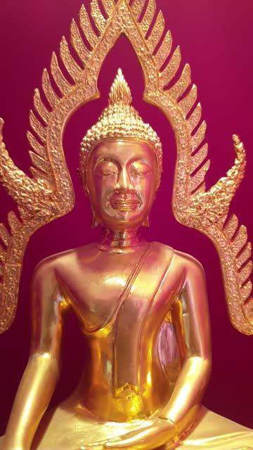 buddha-statue. - zurücklehnen stock-videos und b-roll-filmmaterial