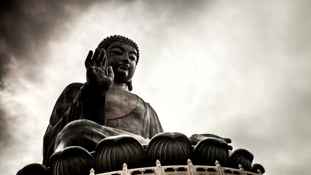 buddha zeitraffer in hong kong - buddha stock-videos und b-roll-filmmaterial