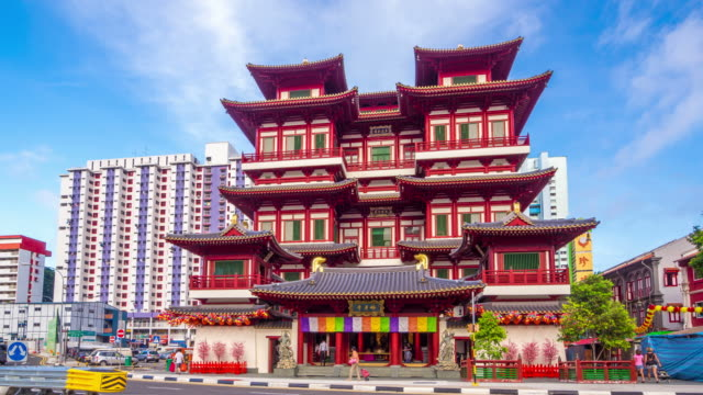 buddha tooth relic temple,singapore - buddha stock videos and b-roll footage