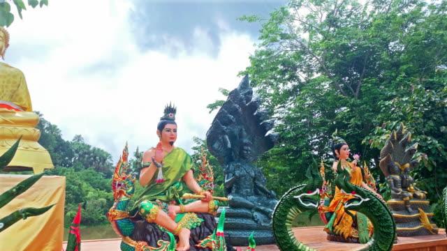 buddhist altar kham chanot - altar stock videos & royalty-free footage