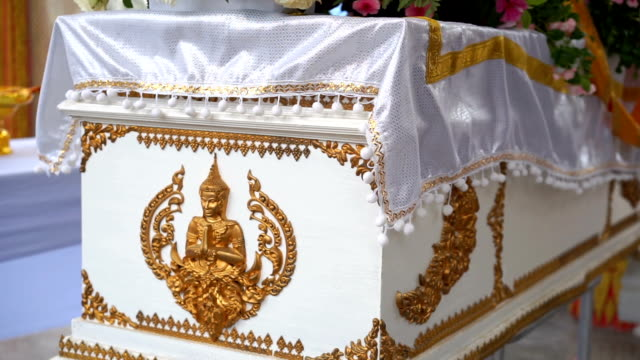 buddhist coffin in funeral traditions - coffin stock videos & royalty-free footage