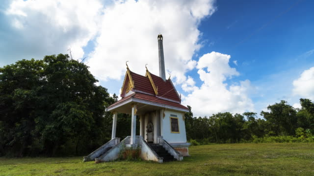 buddhist crematory time lapse - cemetery stock videos & royalty-free footage