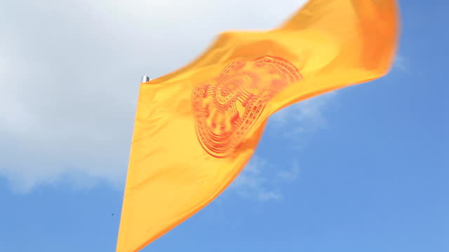buddhist flag. - religious symbol stock videos & royalty-free footage