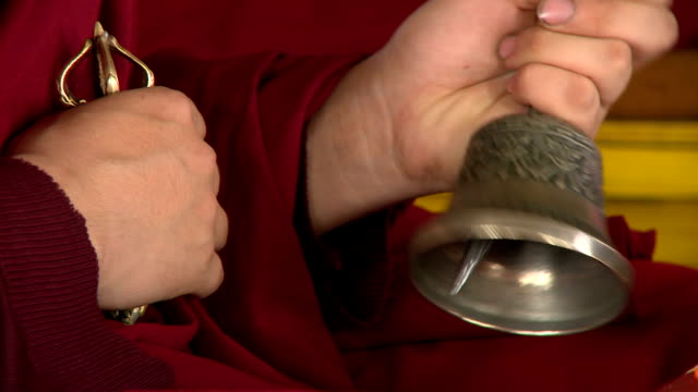 buddhist meditation bell - traditionally tibetan stock videos & royalty-free footage