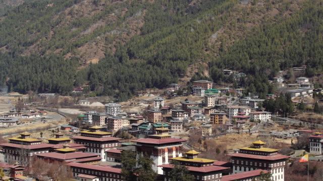 Buddhist monastery Tashichho Dzong in Thimphu, Bhutan, Asia