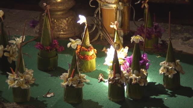 MS Buddhist offerings, Luang Prabang, Laos