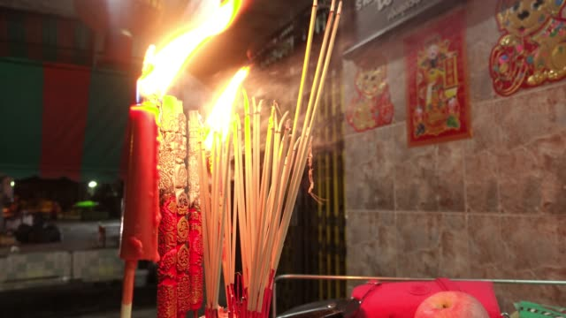 buddhist people respect buddha status - incense stock videos & royalty-free footage