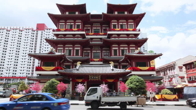MS Buddhist temple from across street / Singapore