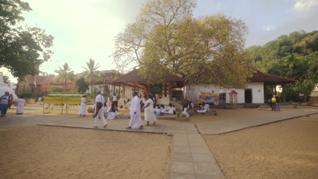 buddhist temple of tooth relic at kandy, sri lanka. steadicam shot - sri lankan culture stock videos & royalty-free footage