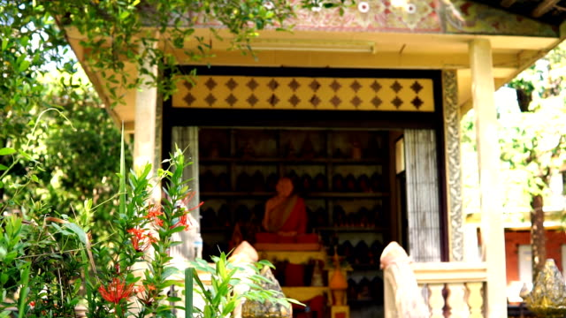 buddhist temple, old town, ko lanta, krabi, thailand - ko lanta stock videos & royalty-free footage