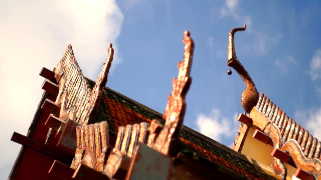 buddhist temple roof, old town, ko lanta, krabi, thailand - ko lanta stock videos & royalty-free footage