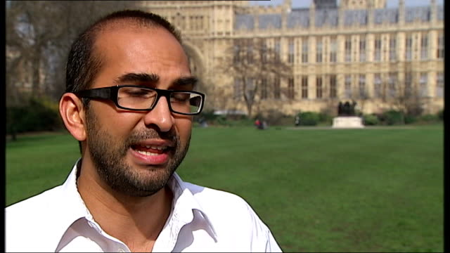 backlash against 'Granny tax' Westminster EXT Shiv Malik interview SOT Reporter to camera South London INT Vox pops pensioners