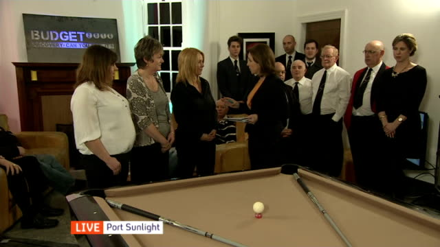 reaction england merseyside port sunlight int beverley rowe live interview sot lin longshaw par live interview sot katie o'hanlon live interview sot - jackie long stock videos & royalty-free footage