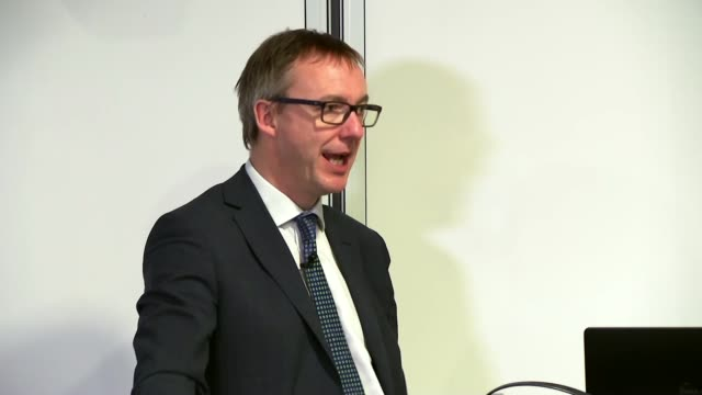 reaction to national insurance rises institute for fiscal studies int paul johnson speech sot/ west midlands dudley int various shots of philip... - west midlands stock videos and b-roll footage