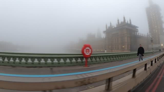 rishi sunak unveils covid recovery plan for uk economy; england: london: westminster: ext / fog speeded up timelapse of river thames near westminster... - fog stock videos & royalty-free footage