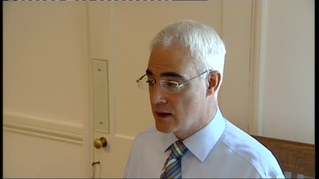 alistair darling seated at breakfast with his wife england london downing street number 11 int * * beware alistair darling mp seated at breakfast... - number 11 stock videos and b-roll footage