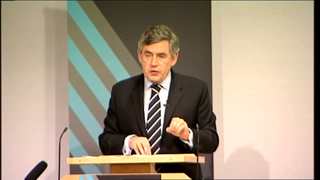 gordon brown speech to royal society; gordon brown speech continued sot but while i passionately believe in our responsibilities to ensure good... - 12 13 years stock videos & royalty-free footage