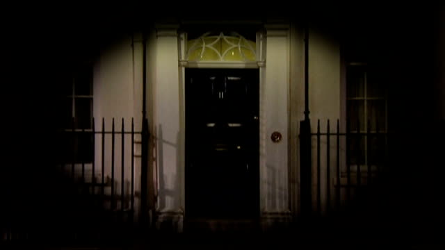 budget preview / increased cost of living england london downing street ext **harp version of 'rockabye baby' overlaid sot** number 11 / iris - harp stock videos & royalty-free footage