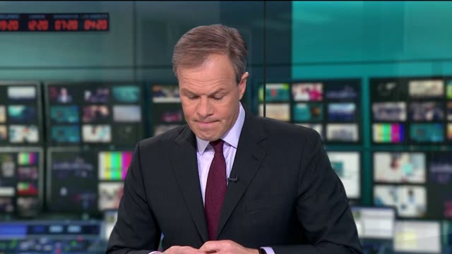 ITV Budget Special 2017 STUDIO as introductory music plays Tom Bradby introduction