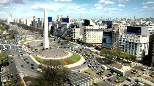 buenos aires, argentina - avenida 9 de julio stock videos & royalty-free footage