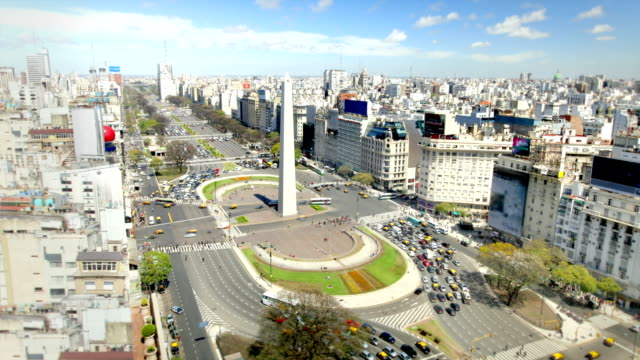 buenos aires, argentina (2 shots) - obelisk stock videos & royalty-free footage