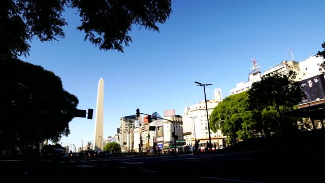 buenos aires, argentina - avenida 9 de julio stock videos & royalty-free footage