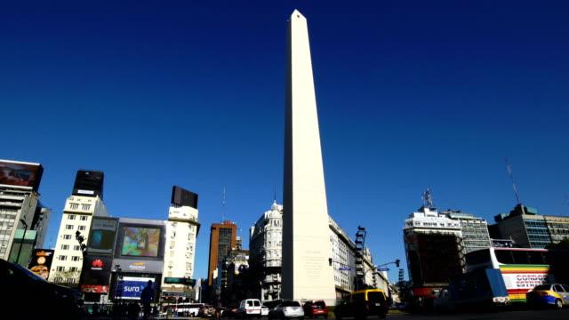 vídeos y material grabado en eventos de stock de buenos aires, argentina - avenida 9 de julio