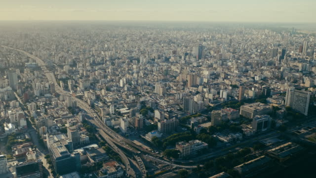 buenos aires cityscape, city center - argentina stock videos & royalty-free footage