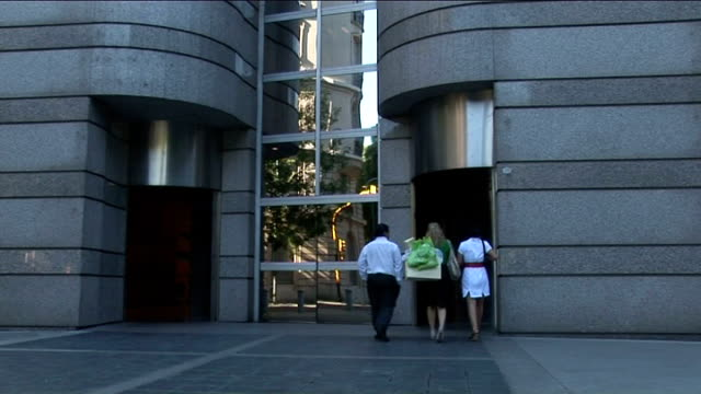 buenos aires: ext vox pops with argentinian people about who they think has rights to oil exploration foreign ministry building int victorio taccetti... - atlantikinseln stock-videos und b-roll-filmmaterial