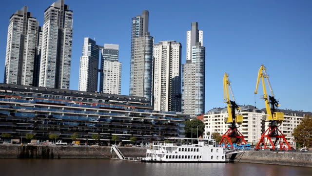 buenos aires harbour - puerto madero stock videos & royalty-free footage