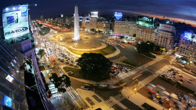 t/l buenos aires obelisco and plaza de la republica - obelisk stock videos & royalty-free footage