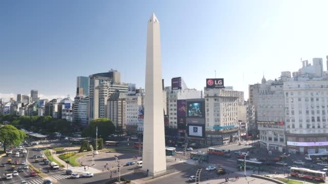 stockvideo's en b-roll-footage met buenos aires obelisk plaza de la republica - buenos aires