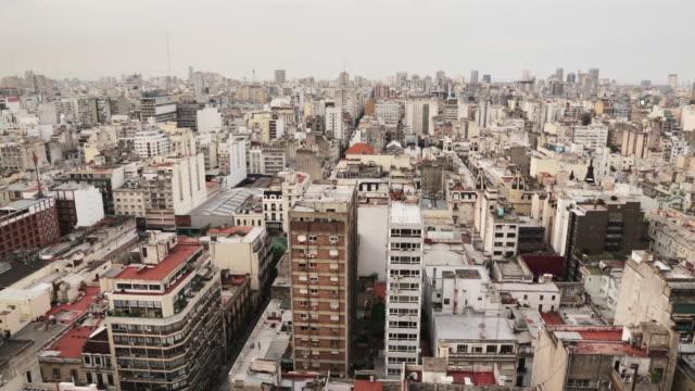 vídeos de stock e filmes b-roll de ms, ha buenos aires skyline view in centro / buenos aires, argentina - buenos aires