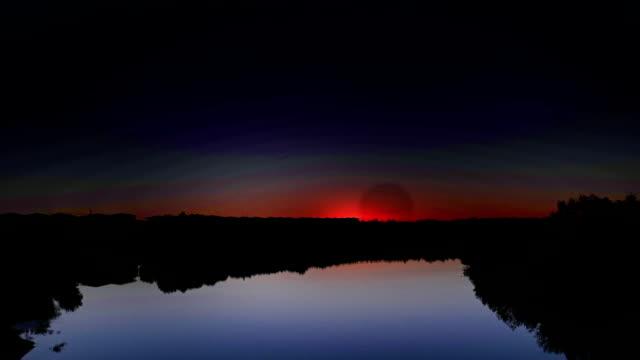 vídeos y material grabado en eventos de stock de sunrise buerjin río - paisaje mosaico