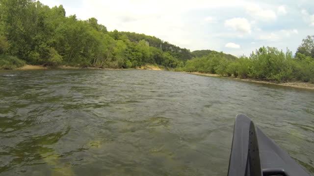 Buffalo River from Front of Canoe