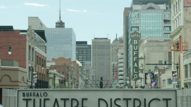 stockvideo's en b-roll-footage met buffalo theater district, buffalo, ny usa - niagara falls city staat new york