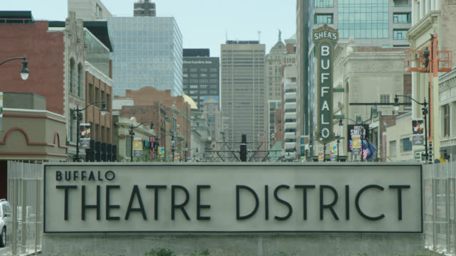 buffalo theatre district, buffalo, ny usa - niagara falls stock videos & royalty-free footage