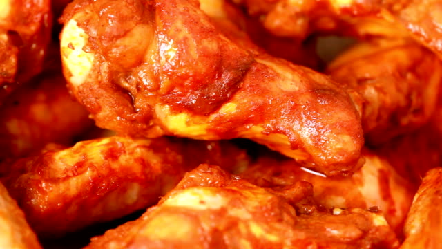 buffalo wings - dipping stock videos & royalty-free footage