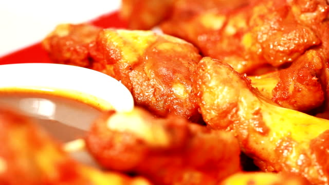 buffalo wings - barbecue chicken stock videos and b-roll footage