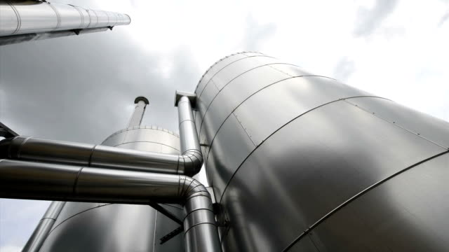 Buffer Vessel of a biomass plant, Energiewende, Germany