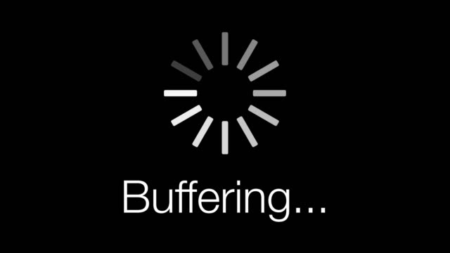 buffering loading symbol - loop. 4k - loading stock videos & royalty-free footage