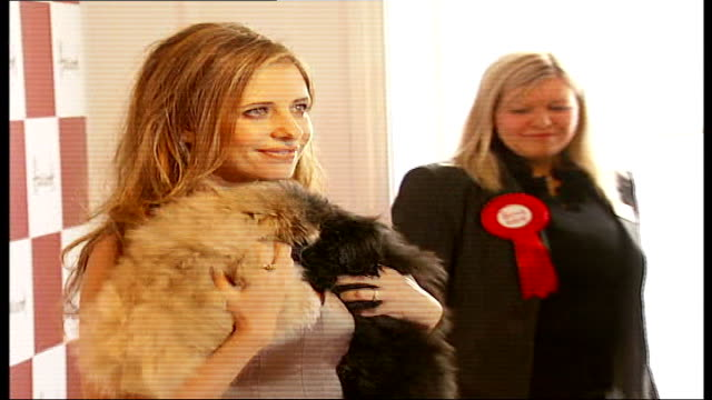 'Buffy the Vampire Slayer' opens Harrods sale Buffy the Vampire Slayer aka Sarah Michelle Gellar holding dogs as posing for photocall Buffy the...