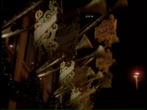 bugle decorations in downtown chicago on december 14 1991 in chicago illinois - bugle stock videos and b-roll footage